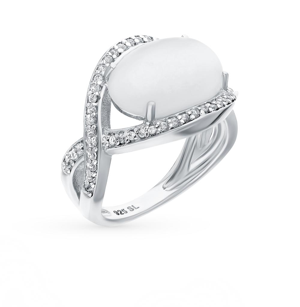 Фото «серебряное кольцо с кошачьими глазами и фианитами»