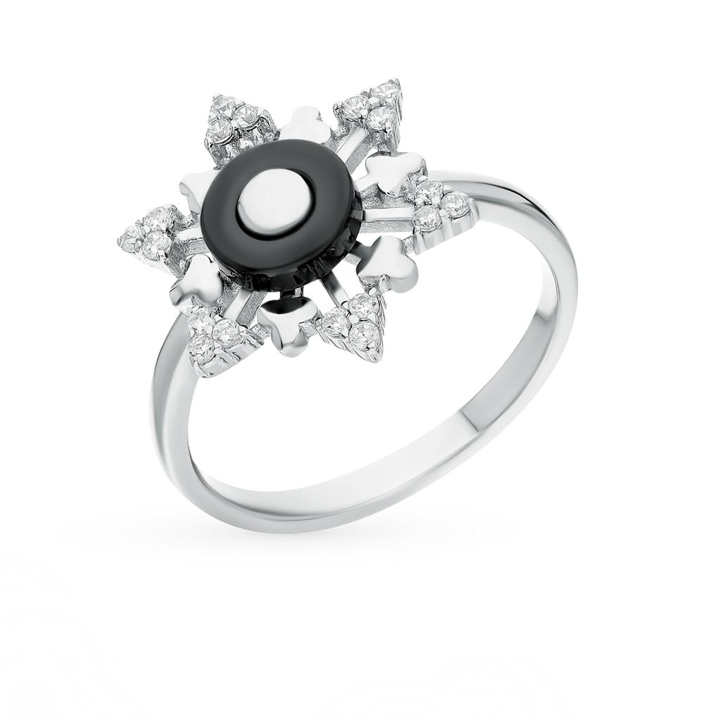 Фото «Металл кольцо с фианитами и керамиками»