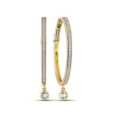 Фото «золотые серьги с топазами»