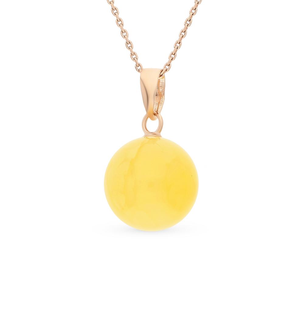 Фото «золото подвеска с янтарями»