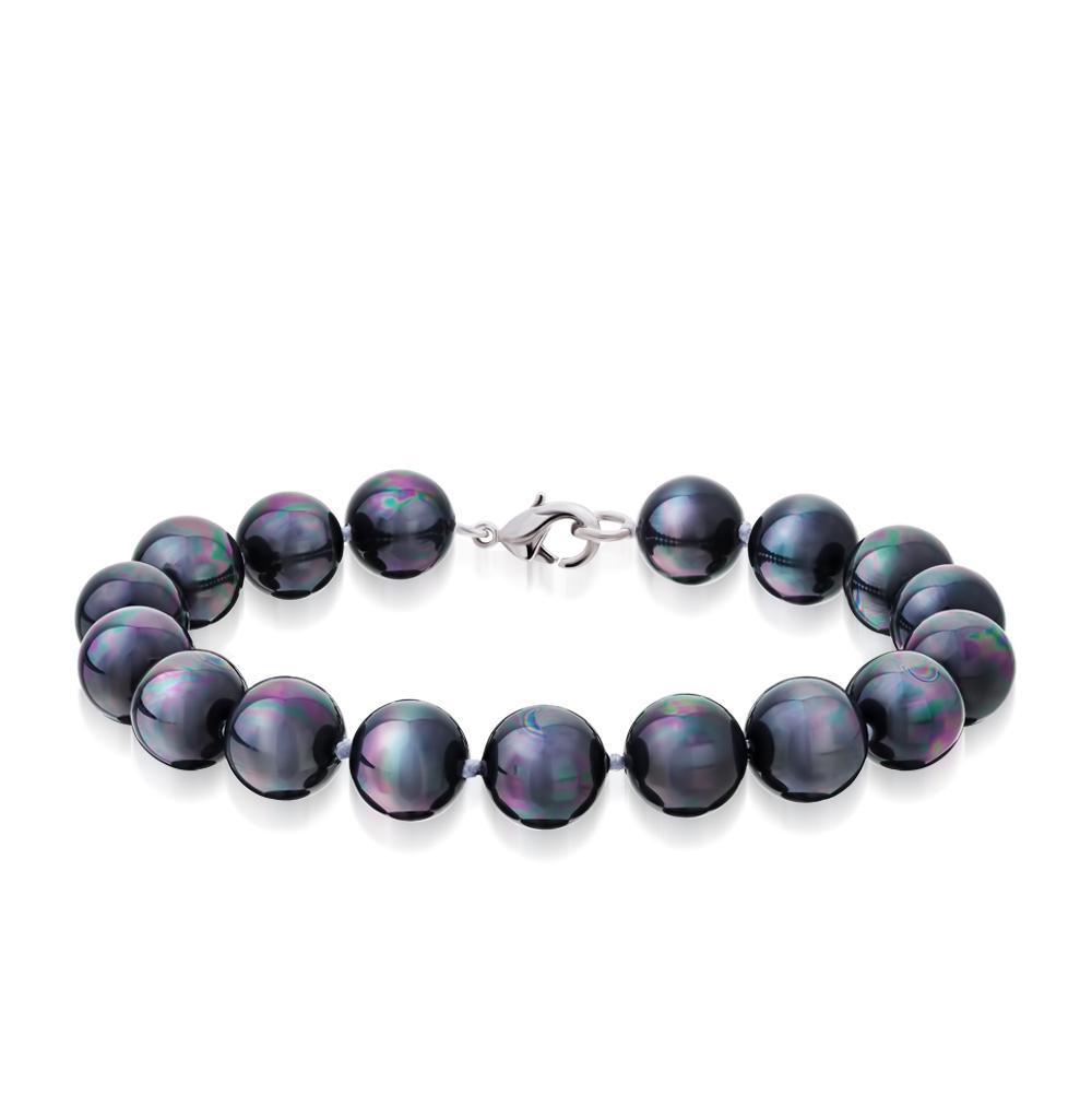 Фото «серебряный браслет с жемчугами имитациями и жемчугами»
