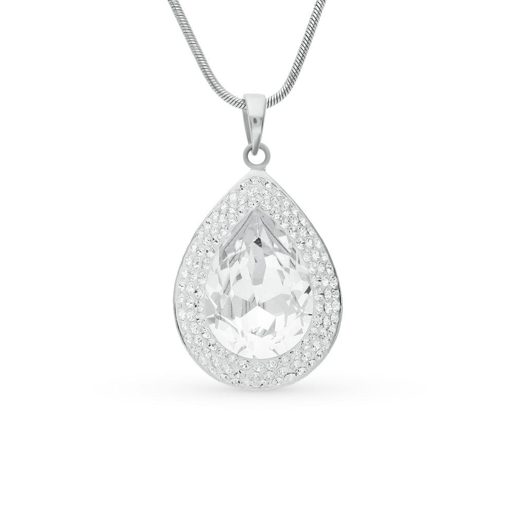 Фото «серебряная подвеска с алпанитом и кристаллами»