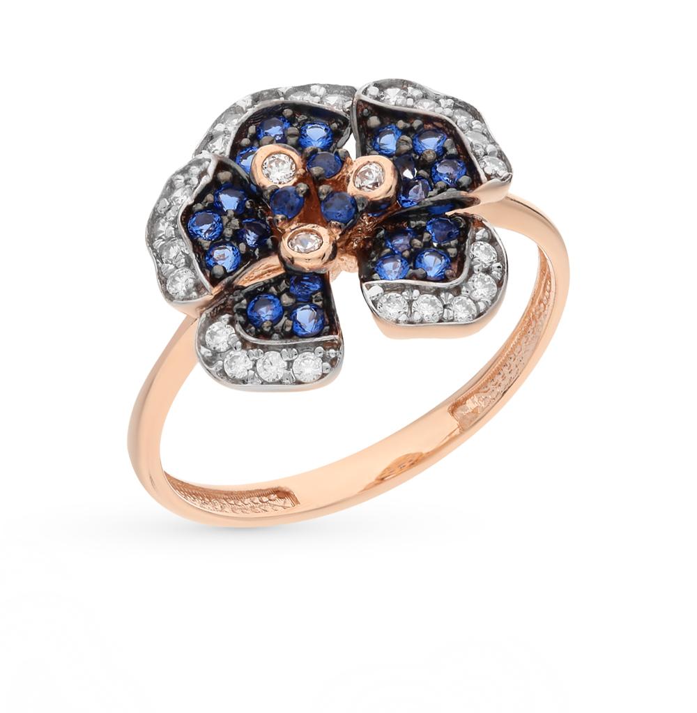Фото «золотое кольцо с нанокристаллами и фианитами»
