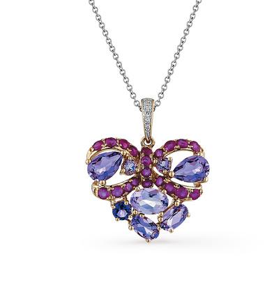 Фото «золотая подвеска с бриллиантами, аметистами и рубинами»