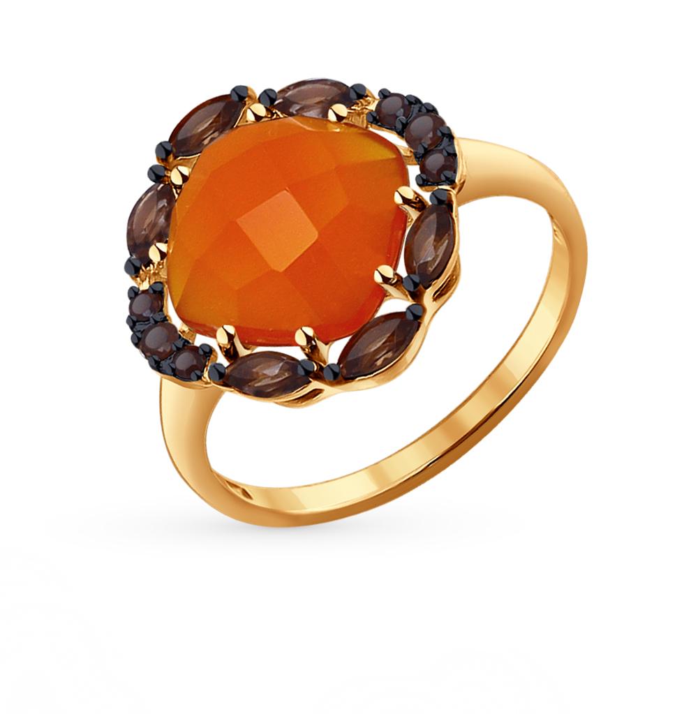 Фото «золотое кольцо с сердоликами»