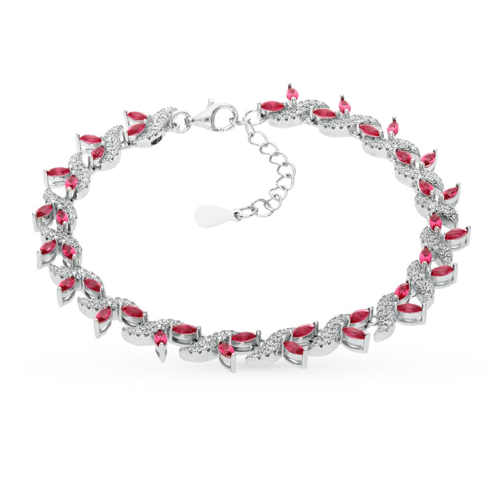 Фото «серебряный браслет с алпанитами и фианитами»