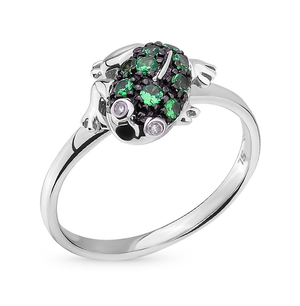 Фото «золотое кольцо с бриллиантами и цаворитами»
