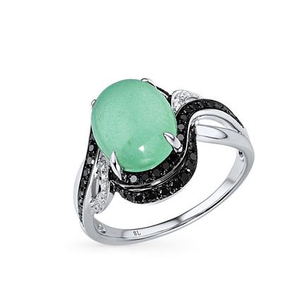 Фото «золотое кольцо с бриллиантами и ониксами синтетическими»