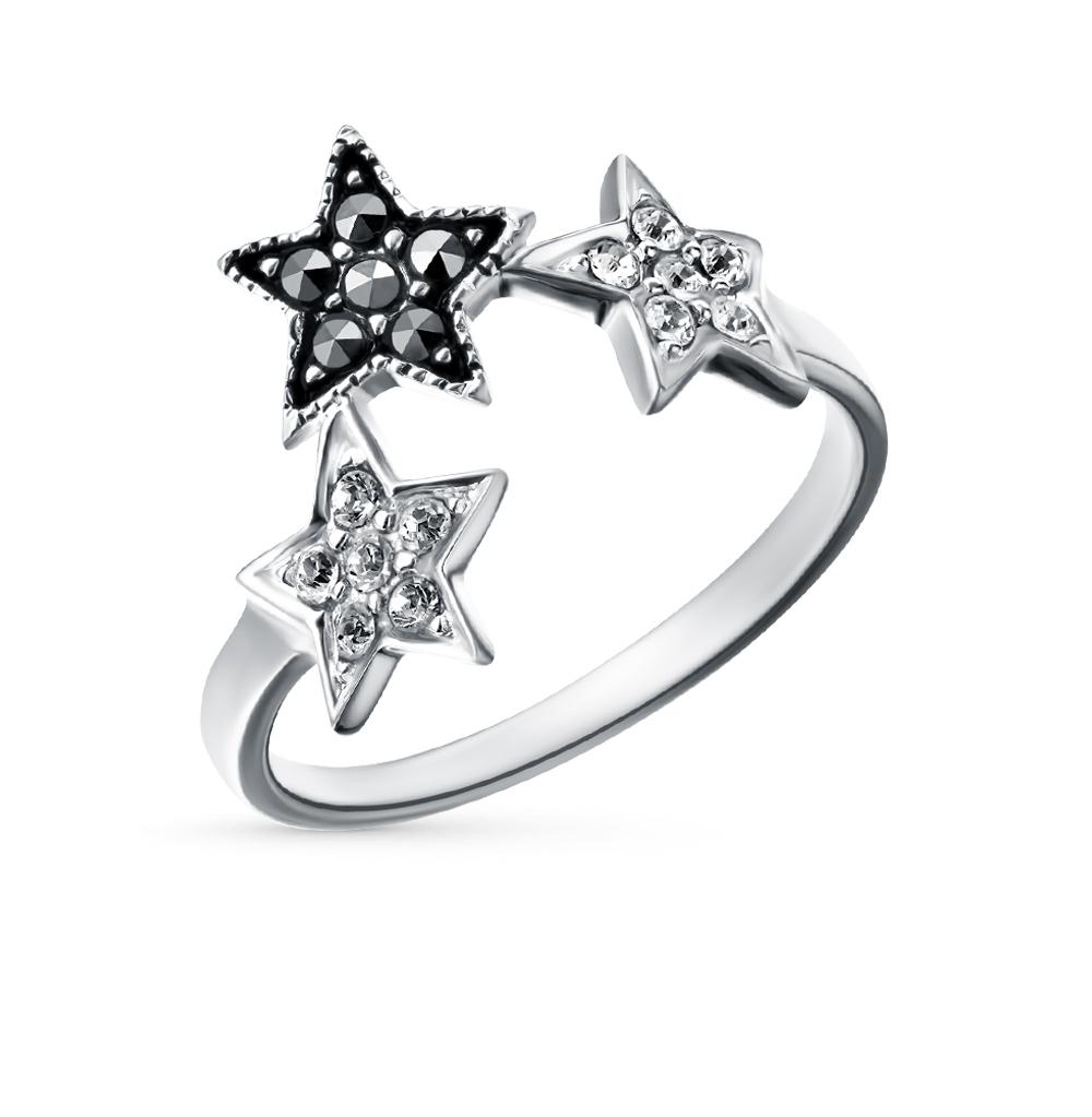 Фото «серебряное кольцо с кристаллами swarovski и марказитами»