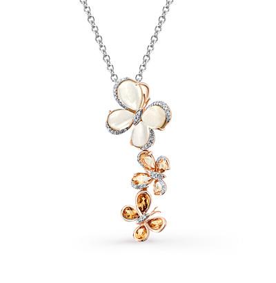 Фото «золотая подвеска с бриллиантами и кварцами»