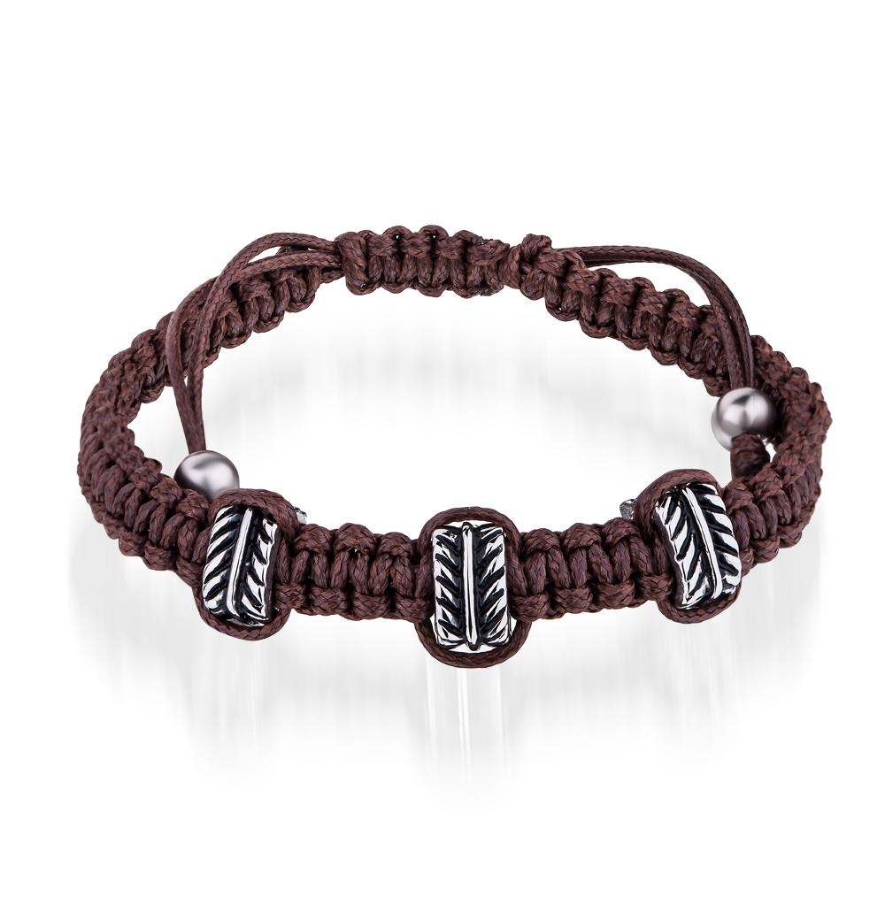 Фото «браслет из стали и текстиля с сталью и эмалью»