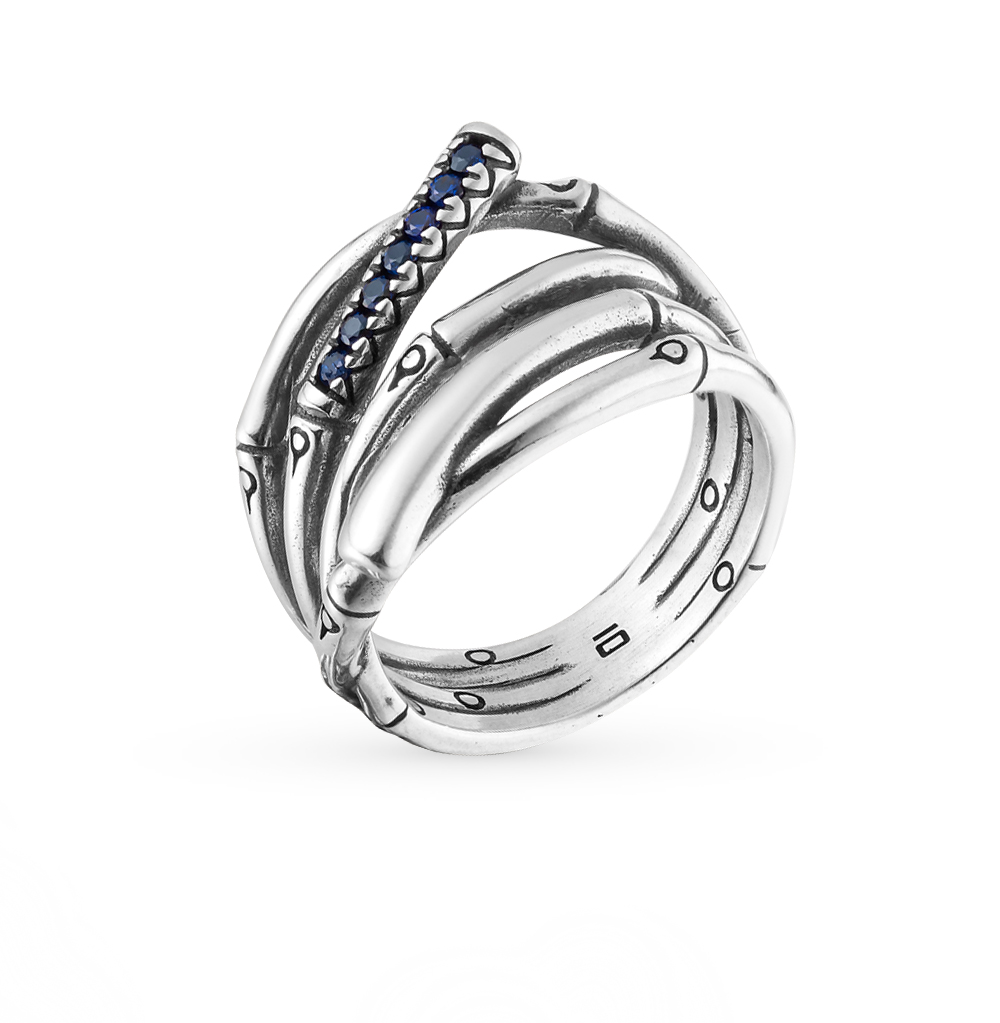 Фото «кольцо из серебра с шпинелем синтетической»