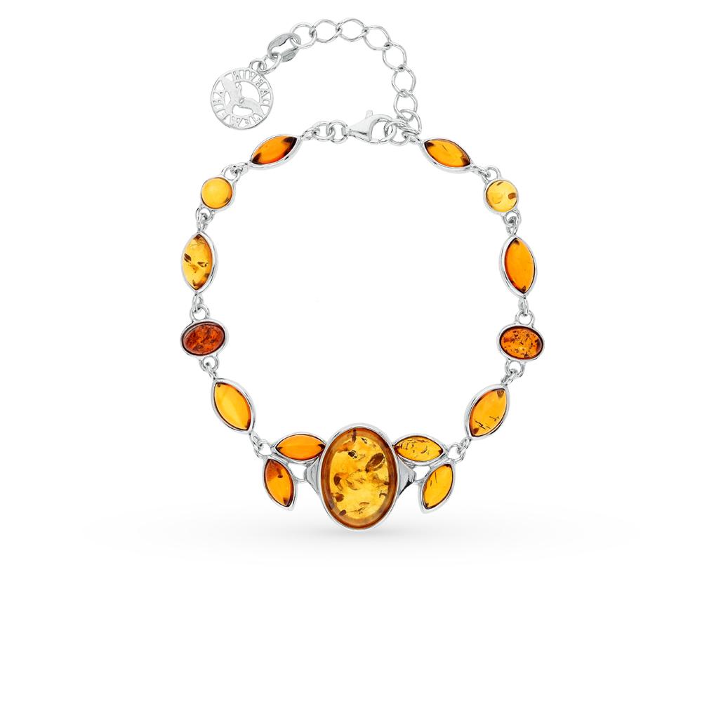Фото «серебряный браслет с янтарем»