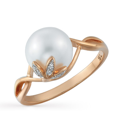 Фото «золотое кольцо с бриллиантами, топазами и жемчугом»
